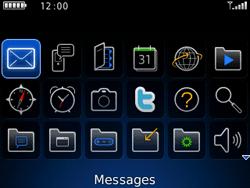 BlackBerry curve 3G - Contact, Appels, SMS/MMS - Envoyer un SMS - Étape 3