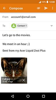 Acer Liquid Zest 4G Plus - E-mail - Sending emails - Step 15