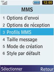 Samsung S5610 Primo - MMS - configuration manuelle - Étape 7