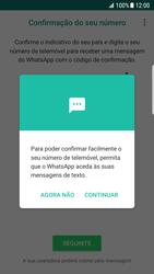 Samsung Galaxy S7 Edge - Android Nougat - Aplicações - Como configurar o WhatsApp -  13