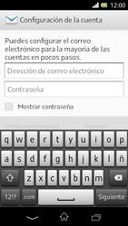 Sony Xperia L - E-mail - Configurar correo electrónico - Paso 5