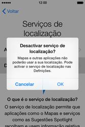 Apple iPhone 4S iOS 8 - Primeiros passos - Como ligar o telemóvel pela primeira vez -  12
