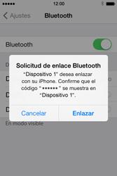 Apple iPhone 4S iOS 7 - Bluetooth - Conectar dispositivos a través de Bluetooth - Paso 6