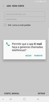 Samsung Galaxy S9 Plus - Email - Como configurar seu celular para receber e enviar e-mails - Etapa 8