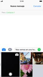 Apple iPhone 7 iOS 11 - Mensajería - Escribir y enviar un mensaje multimedia - Paso 10