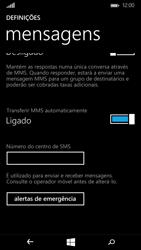 Microsoft Lumia 535 - SMS - Como configurar o centro de mensagens -  8