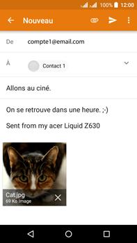 Acer Liquid Z630 - E-mail - Envoi d