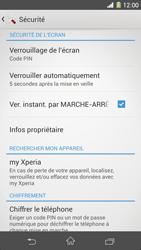 Sony Xpéria Z1 - Sécuriser votre mobile - Activer le code de verrouillage - Étape 11