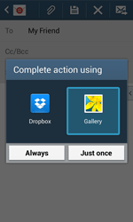 Samsung Galaxy Core Plus - Email - Sending an email message - Step 13