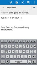 Samsung G530FZ Galaxy Grand Prime - E-mail - Sending emails - Step 10