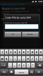 Sony Xpéria S - Sécuriser votre mobile - Personnaliser le code PIN de votre carte SIM - Étape 9