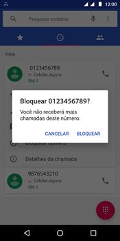 Motorola Moto G6 Play - Chamadas - Como bloquear chamadas de um número específico - Etapa 6