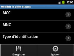 Samsung B5510 Galaxy TXT - MMS - Configuration manuelle - Étape 13