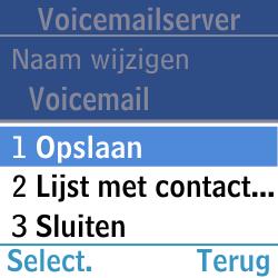 Samsung GT-E1200i - Voicemail - Handmatig instellen - Stap 10