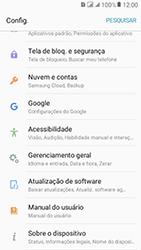 Samsung Galaxy J2 Prime - Funções básicas - Como atualizar o software do seu aparelho - Etapa 4