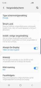Samsung Galaxy S10e - Beveiliging en privacy - automatische schermblokkering instellen - Stap 13