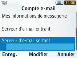 Samsung S3350 Chat 335 - E-mail - Configuration manuelle - Étape 17