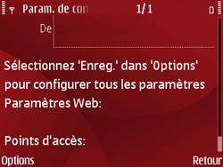 Nokia E63 - Internet - Configuration automatique - Étape 8