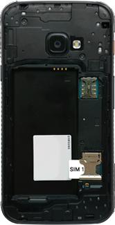 Samsung galaxy-xcover-4s-dual-sim-sm-g398fn - Instellingen aanpassen - SIM-Kaart plaatsen - Stap 4