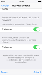 Apple iPhone SE - Applications - Créer un compte - Étape 17