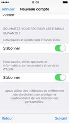 Apple iPhone 5s iOS 9 - Applications - Créer un compte - Étape 17