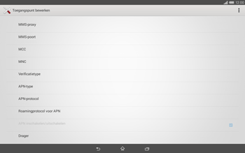 Sony Xperia Tablet Z2 (SGP521) - Internet - handmatig instellen - Stap 11