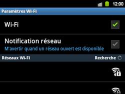 Samsung B5510 Galaxy TXT - Wifi - configuration manuelle - Étape 6