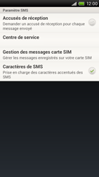 HTC S720e One X - SMS - configuration manuelle - Étape 5