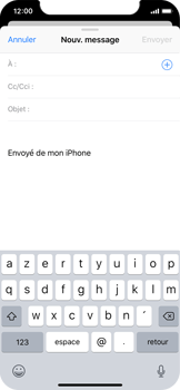 Apple iPhone X - E-mail - envoyer un e-mail - Étape 3