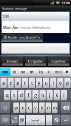 Sony Ericsson Xperia Arc - E-mail - envoyer un e-mail - Étape 5