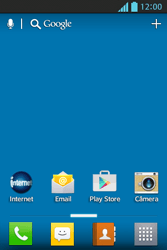 LG Optimus L5 - Email - Como excluir uma conta de e-mail - Etapa 1