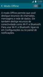 Samsung G900F Galaxy S5 - Rede móvel - Como ativar e desativar o modo avião no seu aparelho - Etapa 5
