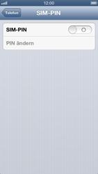 Apple iPhone 5 - Basisfunktionen - SIM-PIN aktivieren und ändern - Schritt 5