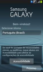 Samsung GT-I8552B Galaxy Win Duos - Primeiros passos - Como ativar seu aparelho - Etapa 5