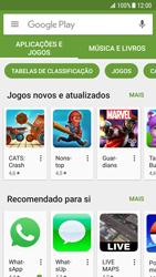 Samsung Galaxy S7 - Android Nougat - Aplicações - Como pesquisar e instalar aplicações -  7
