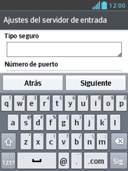 LG Optimus L3 II - E-mail - Configurar correo electrónico - Paso 10