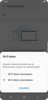 Samsung Galaxy S9 Plus - Android Pie - Internet - mijn data verbinding delen - Stap 7
