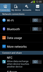 Samsung Galaxy Core Plus - WiFi and Bluetooth - Manual configuration - Step 4