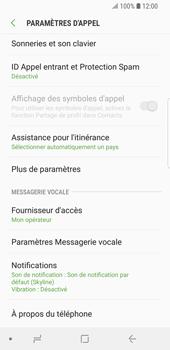 Samsung Galaxy S9 - Messagerie vocale - configuration manuelle - Étape 7