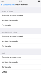 Apple iPhone 6s iOS 9 - Internet - Configurar Internet - Paso 6