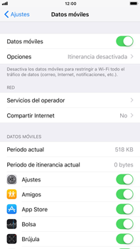 Apple iPhone 7 Plus iOS 11 - Internet - Configurar Internet - Paso 4