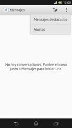 Sony Xperia Z - Mensajería - Configurar el equipo para mensajes de texto - Paso 5