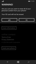 Microsoft Lumia 535 - Device - Reset to factory settings - Step 8
