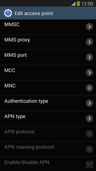 Samsung N9005 Galaxy Note III LTE - MMS - Manual configuration - Step 11