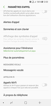 Samsung Galaxy A8 (2018) - Messagerie vocale - configuration manuelle - Étape 7