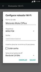 Motorola Moto C Plus - Wi-Fi - Como usar seu aparelho como um roteador de rede wi-fi - Etapa 6