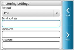 HTC A810e ChaCha - E-mail - Manual configuration - Step 6