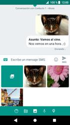 Sony Xperia XZ1 - Mensajería - Escribir y enviar un mensaje multimedia - Paso 18