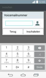 LG F60 4G (LG-D390n) - Voicemail - Handmatig instellen - Stap 8