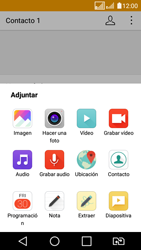 LG K4 (2017) - Mensajería - Escribir y enviar un mensaje multimedia - Paso 15